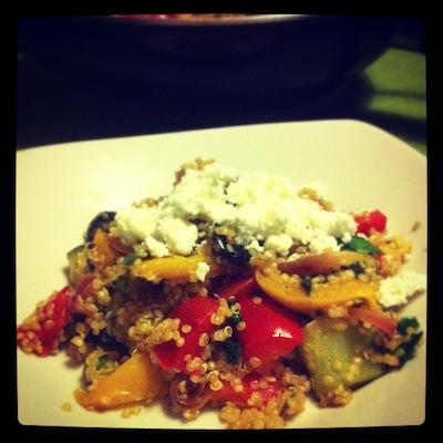 quinoa met groenten en fetakaas