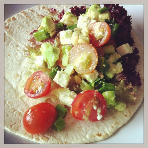 wrap met avocado en feta