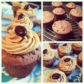 chocoladecakejes met mokka crème-au-beurre